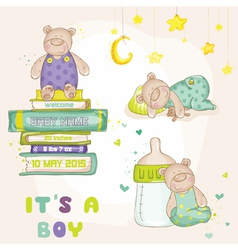 Baby Bear Set - for Baby Shower Cards vector image vector image