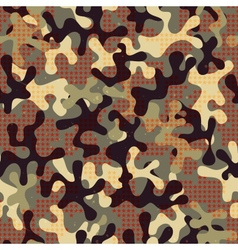 Camouflage seamless pattern with star shapes vector