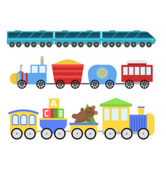 Cartoon toy train railroad and cartoon vector
