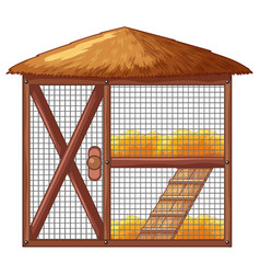 Chicken coop with no chicken vector