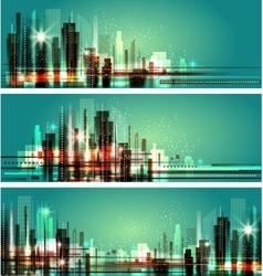 City at night cityscape vector