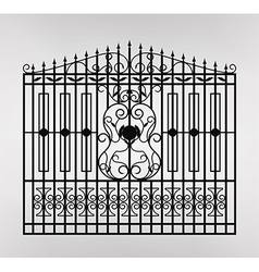 forged gate icon vector image