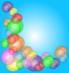 Fun bubble corner vector image