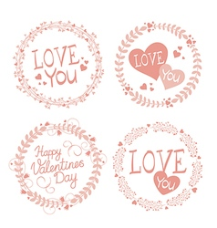 Garland valentines day vector