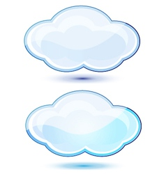 Glossy clouds vector image vector image