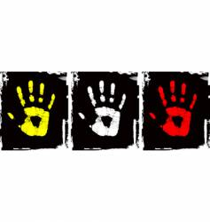 grunge hand set vector image vector image