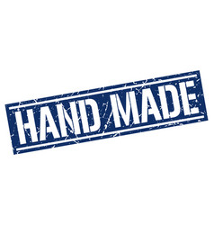 Hand made square grunge stamp vector