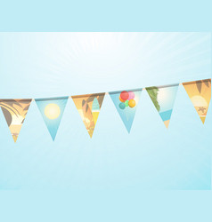 holidays themed bunting background vector image vector image