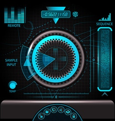 HUD touch screen panel vector image