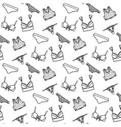 Lingerie seamless pattern underwear vector image