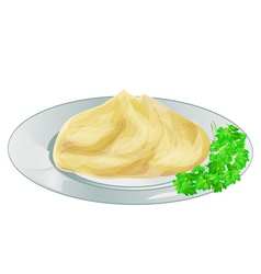 Mash potatoes vector