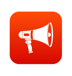 megaphone icon digital red vector image vector image