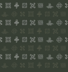 Pattern with celtic art and ethnic ornaments vector