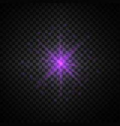 Purple glowing light glitter vector
