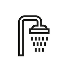 shower icon on white background vector image vector image