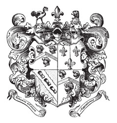 Smiths coat of arms of captain john smith vintage vector