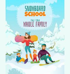 Snowboard school vector