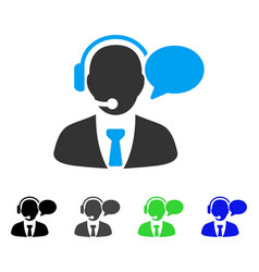 Support manager message flat icon vector