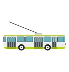Trolley bus icon flat style vector