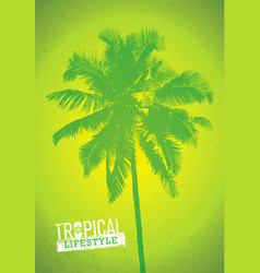 Tropical lifestyle summer beach party creative vector