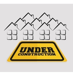 Under construction sign house residential vector