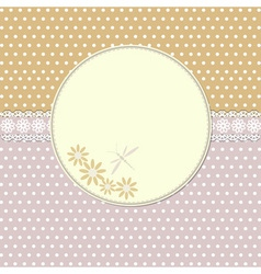 Vintage frame with flowers and dragonfly vector image vector image