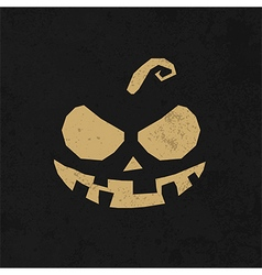 Vintage Happy Halloween Typographical Background vector image