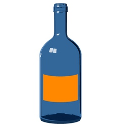 Blue glass bottle vector