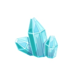 Small blue crystal gem hidden treasure and riches vector