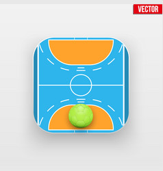 Square icon of handball sport vector