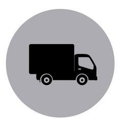 blue symbol delivery car icon vector image
