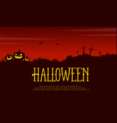 Halloween card style background collection vector