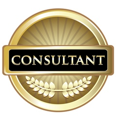Consultant gold vintage label vector