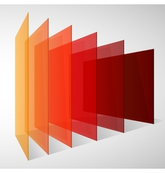 Perspective colorful abstract rectangles on white vector