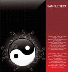 Yin yang background vector