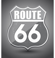 Black and white grunge route 66 sign vector