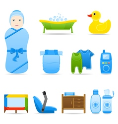 Icon set baby care vector