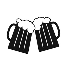 Two glasses or beer mugs vector image