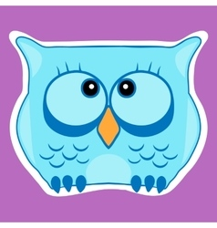 Funny cute animal owl owl vector