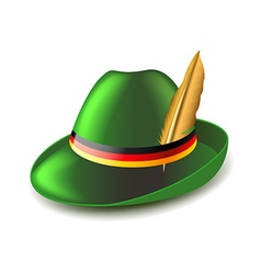 German green hat isolated on white vector