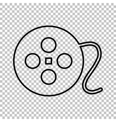 Film circular line icon vector