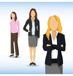 Woman avatar icon businesspeople design vector
