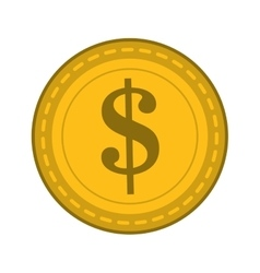 Dollar sign coin icon vector