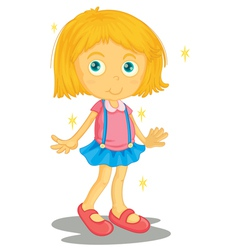 Girl in new clothes vector