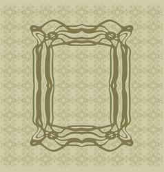 art nouveau smooth lines decorative rectangle vector image