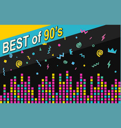 best of 90s retro poster vector image