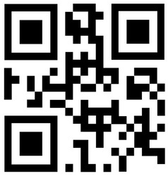 Black qr code says DISCOUNT vector image vector image