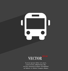 Bus icon symbol flat modern web design with long vector