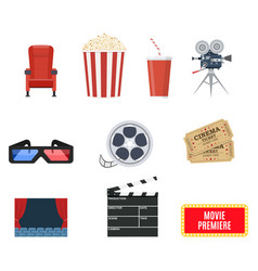 cinema set of design elements vector image
