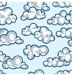 cloud pattern doodle line art cloudy sky vector image vector image